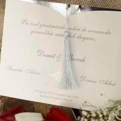 Faire Part Mariage Arabesque Finition Argentée