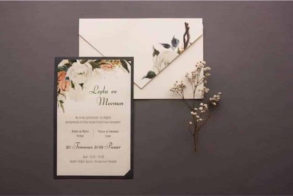 Faire Part Mariage Fleur Blanche Enveloppe Floral