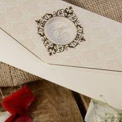 Faire Part Mariage Nacré Finition Dorée