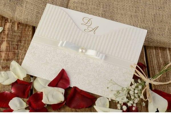 Faire Part Mariage Perle Dessin Oriental