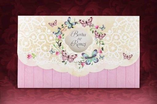 Faire Part Mariage Arc Floral Papillons