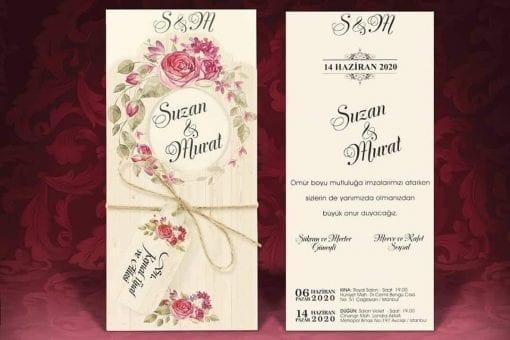 Faire Part Mariage Arc Floral Roses