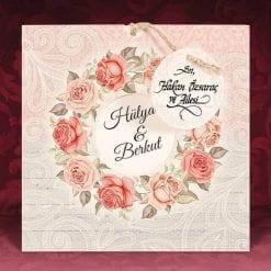 Faire Part Mariage Arc Floral Roses N08