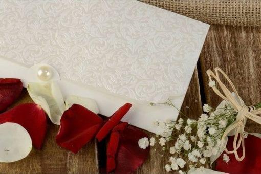 Faire Part Mariage Nacré Fermoir Perle