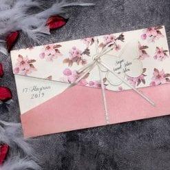 Faire Part Mariage Floral Fuchsia Papillon