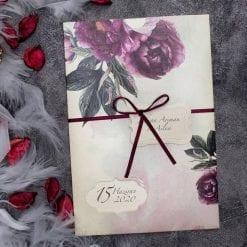 Faire Part Mariage Floral Pivoine Voilette