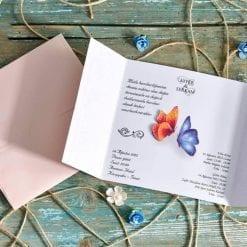 Faire Part Mariage Papillon Pochette Rose