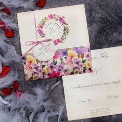 Faire Part Mariage Arc Floral Multicolor
