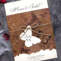 Faire Part Mariage Récit D'une Vie Pochette Kraft