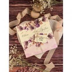 Faire Part Mariage Fleur Violette N36