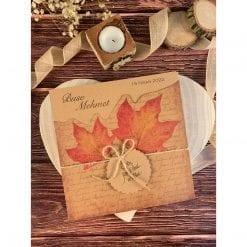 Faire Part Mariage Les Feuilles D'automne