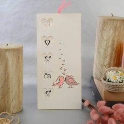 Faire Part Mariage 4 Coeurs De La Vie