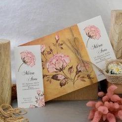 Faire Part Mariage Fleurs Roses A Détacher