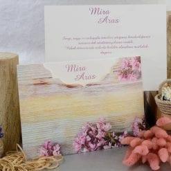 Faire Part Mariage Fleurs Roses Effet Halftone