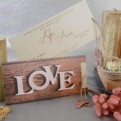 Faire Part Mariage LOVE Avec Ficelle