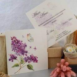 Faire Part Mariage Papillons Sur Fleur De Lavande