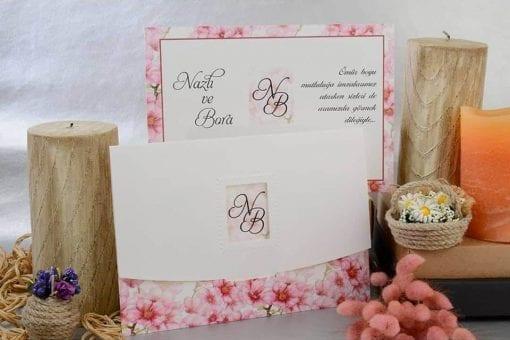 Faire Part Mariage Sur Champs De Fleurs Roses
