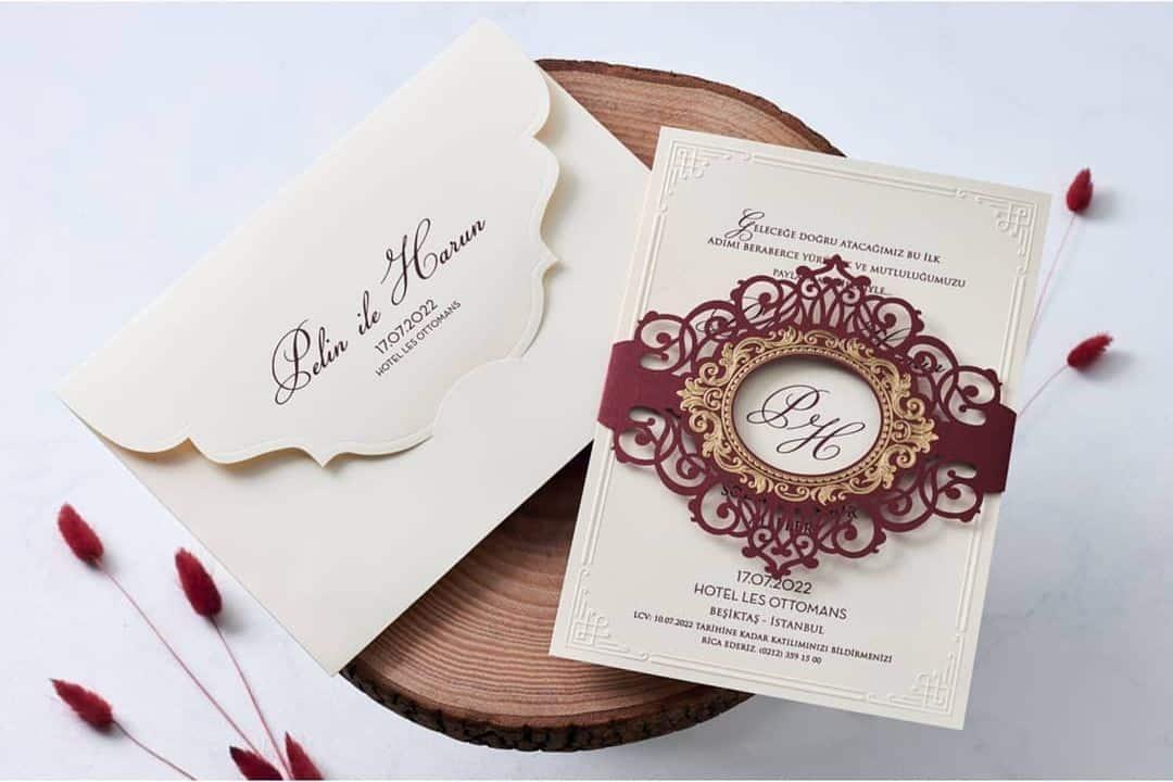 Faire Part Mariage En Relief Avec Enveloppe