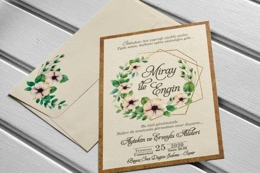 Faire Part Mariage Arc Floral Avec Enveloppe