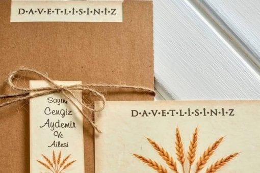 Faire Part Mariage Papier Ancien Pochette Camel