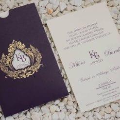 Faire Part Mariage Enveloppe Et Ecriture Violette