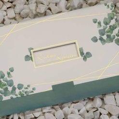 Faire Part Mariage Vert Forêt Finition Dorée