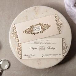 Faire Part Mariage Arabesque Dorée