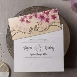 Faire Part Mariage Fleurs Violettes