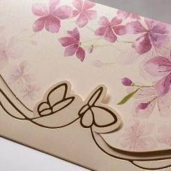 Faire Part Mariage Fleur Violette