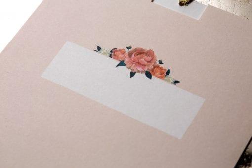 Faire Part Mariage Champêtre Fleur Rose