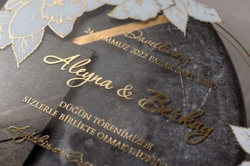 Faire Part Mariage Transparent Rose Blanche