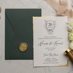 Faire Part Mariage Avec Sceau Enveloppe Verte