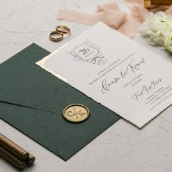 Faire Part Mariage Avec Seau Enveloppe Verte