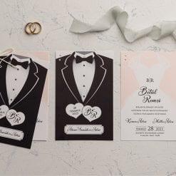 Faire Part Mariage En 2 Parties Mari Et Femme