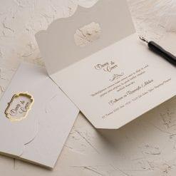 Faire Part Mariage Ouverture Dorée 3 Volets