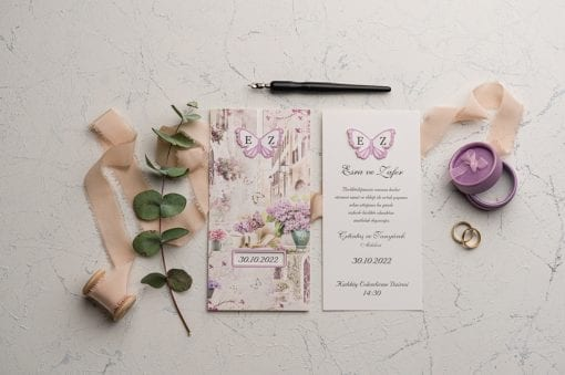 Faire Part Mariage Papillon Central
