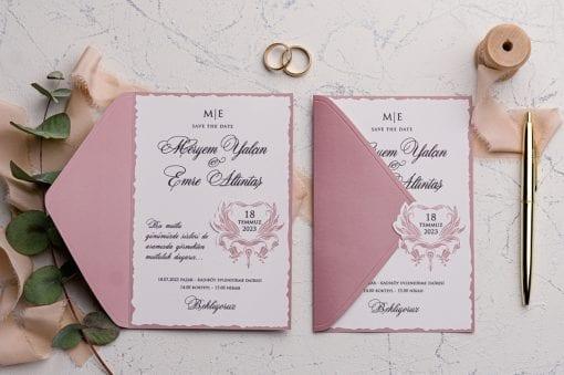 Faire Part Mariage Rose Incarnadin