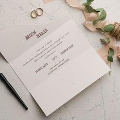 Faire Part Mariage Floral 3 Volets