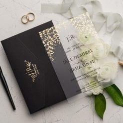 Faire Part Mariage Transparent Enveloppe Noire